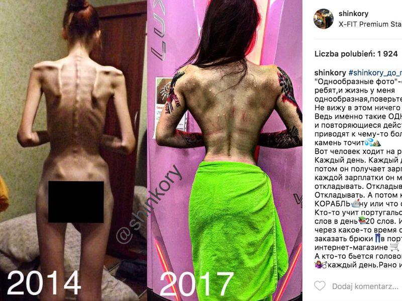 Od anorektyczki do siłaczki...