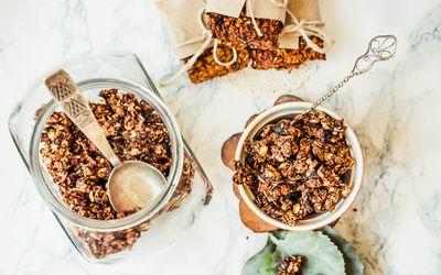 Czekoladowo – kawowa granola gryczana - idealny pomysł na pyszne śniadanie!