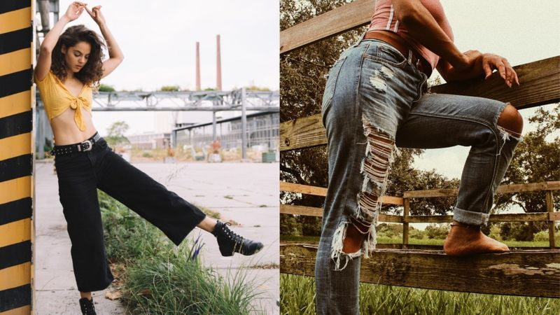 Spodnie bywają bardzo różne...