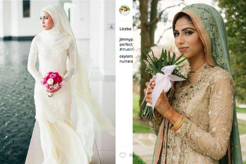 Widok panny młodej w sukni ślubnej...