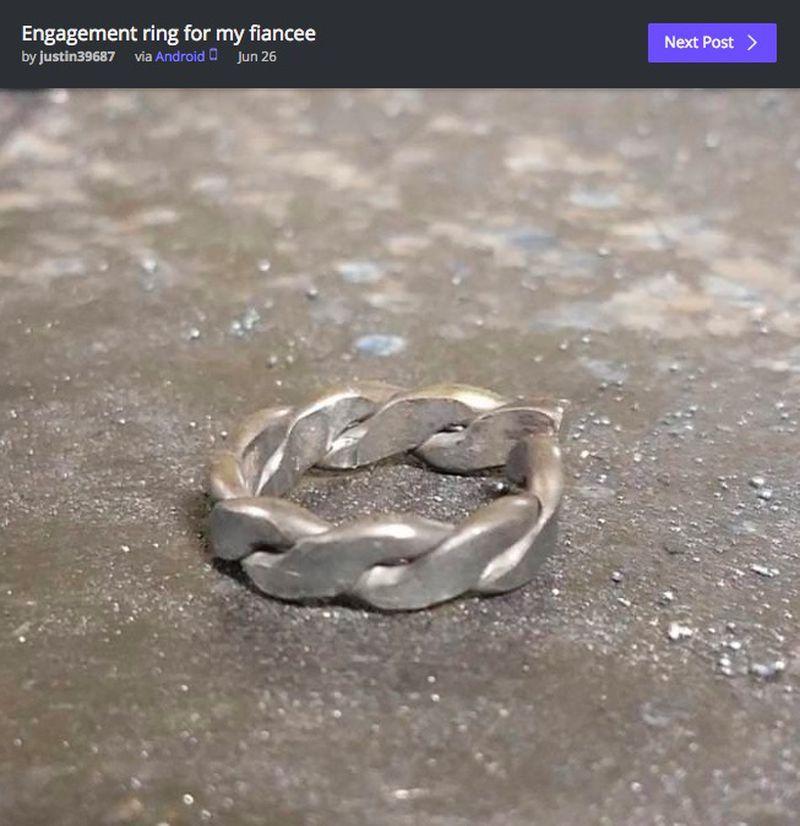 Samodzielnie wykonał pierścionek zaręczynowy. Wszyscy współczują jego narzeczonej - 2