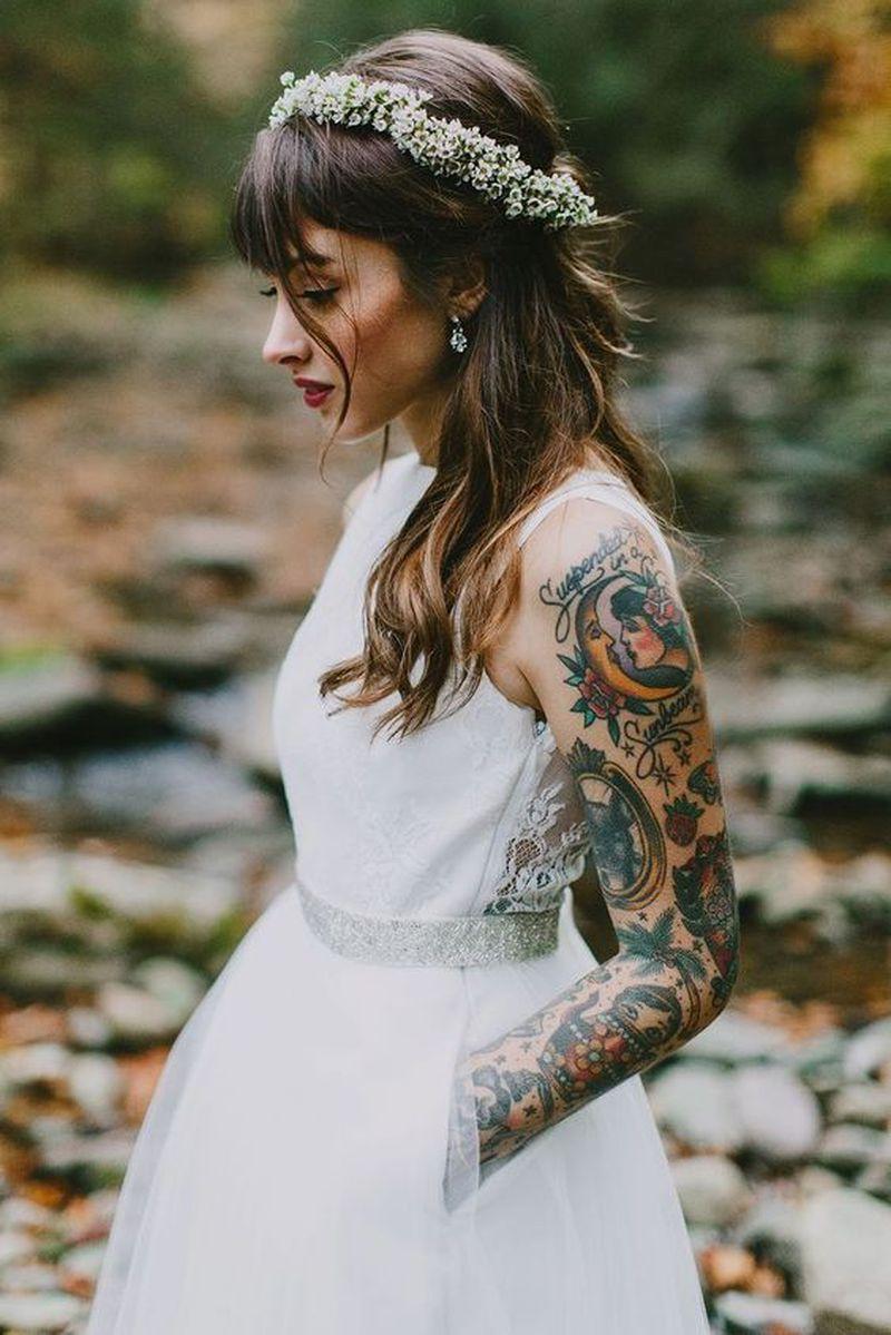 Panny młode z tatuażami. Wzorki na ciele psują efekt, czy podkręcają ślubny look? - 2