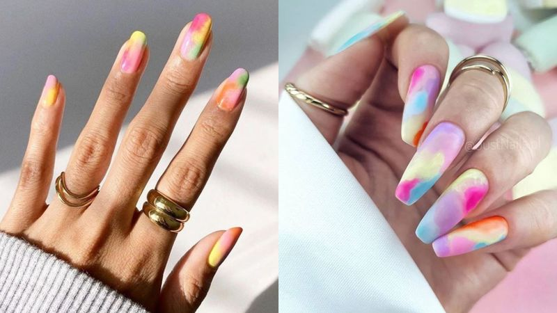 Tie-dye nails to modne paznokcie...