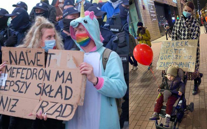20 najlepszych haseł z protestów kobiet. Groźby, klątwy oraz czułe życzenia - zdjęcie 1