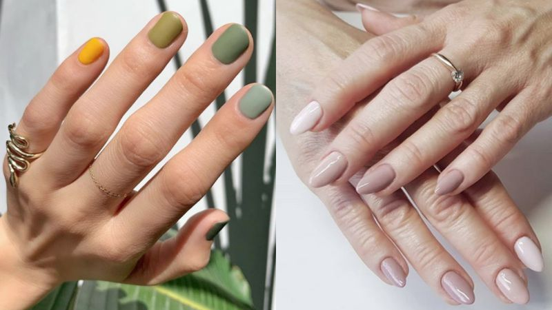 Monochromatyczny manicure to...