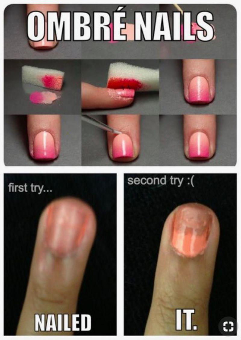 Manicure z Internetu - oczekiwania...