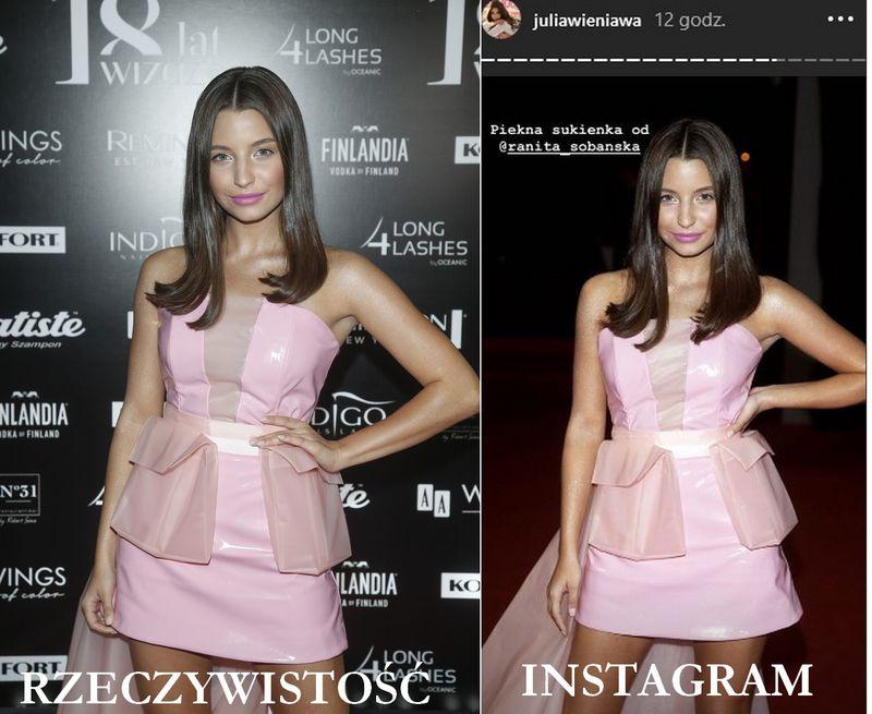 Julia Wieniawa na imprezie. Rzeczywistość KONTRA Instagram - 2