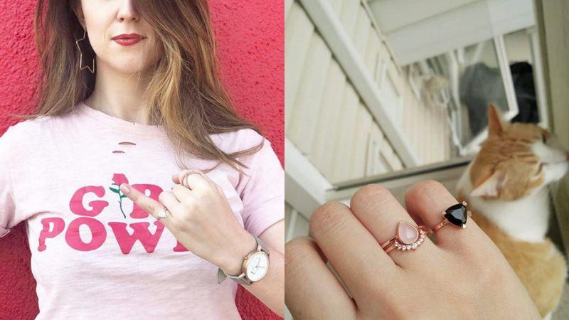 Trójkątne pierścionki...