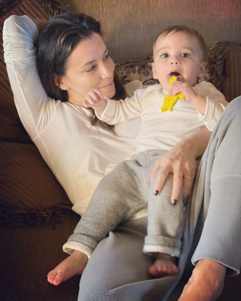 3. Eva Longoria i jej syn, Santiago