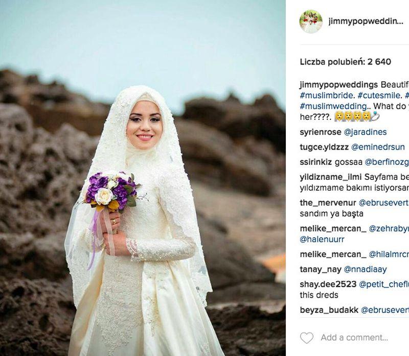 Muzułmanka na ślubnym kobiercu