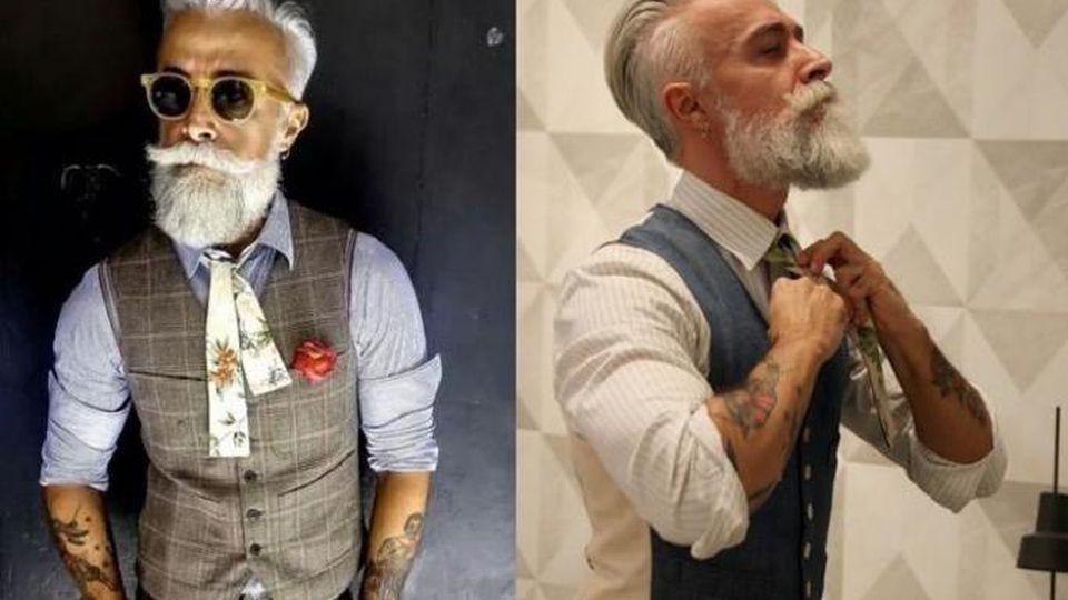 starsi mężczyźni i montaż)